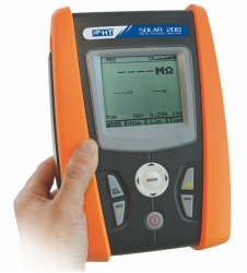 Electrical Safety Installation Tester on Photo Voltaic System HT Italia Solar200